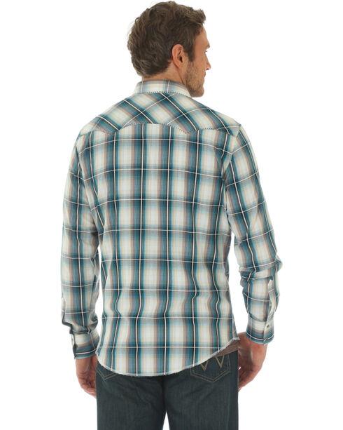 Wrangler Men's Fashion Long Sleeve Plaid Shirt , Beige/khaki, hi-res
