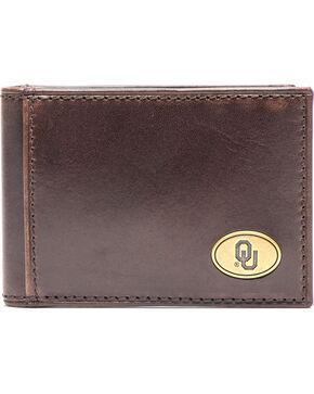Jack Mason Men's Oklahoma Legacy Flip Bifold Wallet , Brown, hi-res