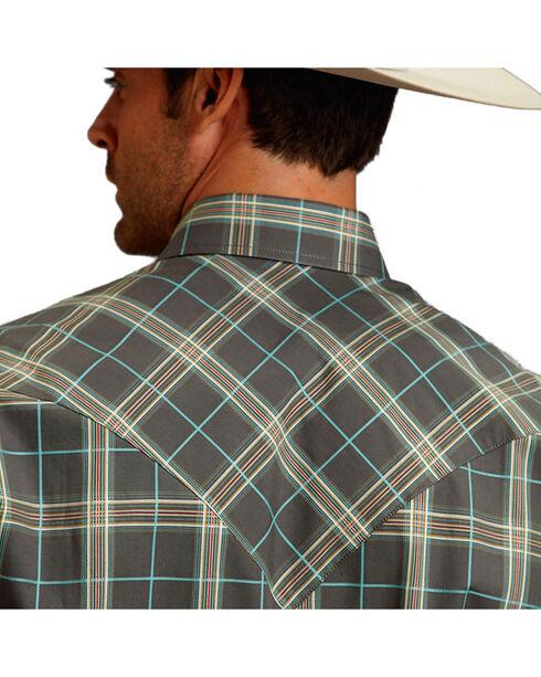 Stetson Men's Ombre Cream Plaid Long Sleeve Snap Shirt, Cream, hi-res