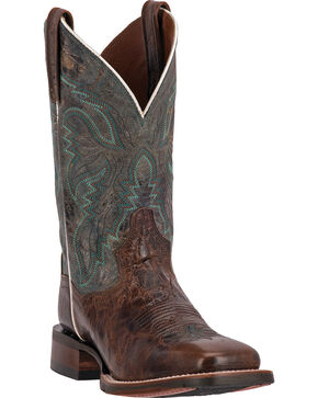 Dan Post Teton Stockman Cowgirl Boots - Square Toe, Chocolate, hi-res
