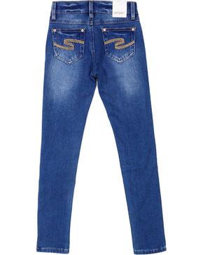Shyanne Girls' Medium Wash Skinny Jeans, Dark Blue, hi-res