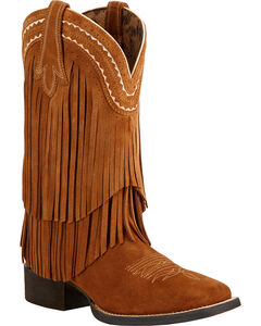 Ariat Fringe Cowgirl Boots - Square Toe , , hi-res