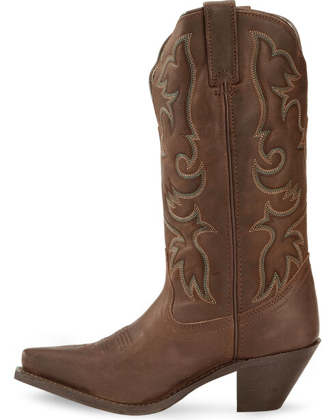Laredo Access Cowgirl Boots - Extended Calf Sizes - Snip Toe, Tan, hi-res