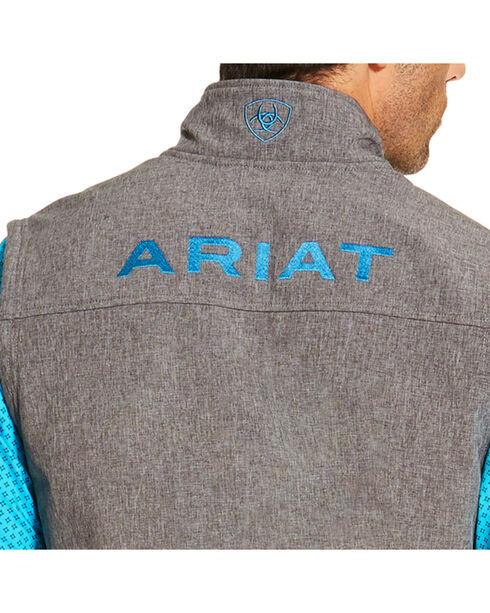 Ariat Men's Charcoal Logo Softshell Vest, Charcoal, hi-res