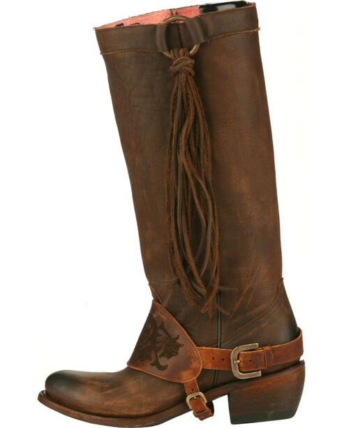Junk Gypsy by Lane Chocolate Southbound Fringe Boots - Round Toe , , hi-res