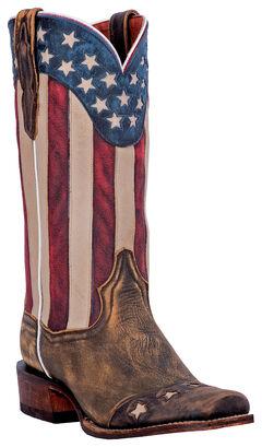 Dan Post Liberty Stars Cowboy Boots - Square Toe, , hi-res