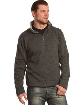 Victory Rugged Wear Men's Heather Knit Quarter Zip Pullover, Charcoal, hi-res