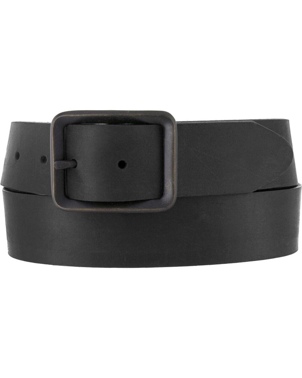 Chippewa Men's Black Buckskin Leather Belt , Black, hi-res