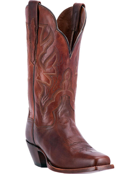 Dan Post Women's Darby Chestnut Brown Cowgirl Boots - Square Toe, Brown, hi-res