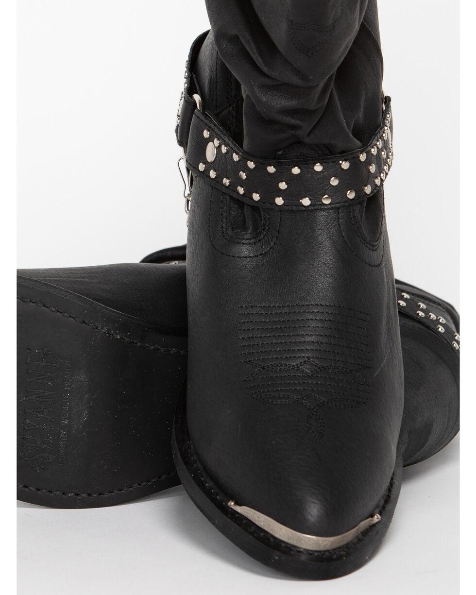 Shyanne Women's Slouch Harness Fashion Boots - Medium Toe, Black, hi-res