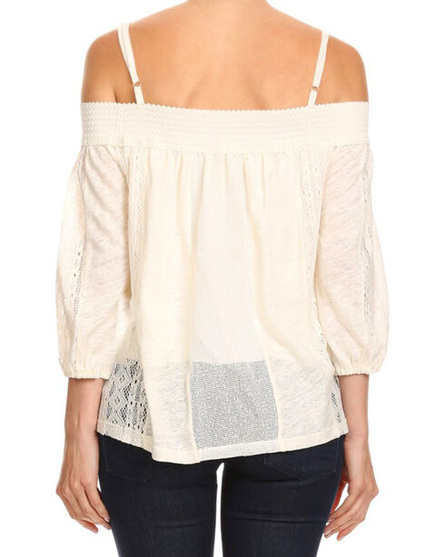 Freeway Apparel Women's Off The Shoulder Spaghetti Strap Top , White, hi-res