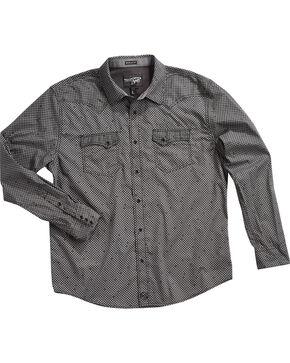 Moonshine Spirit Men's Hidden Printed Long Sleeve Shirt - Tall, Black, hi-res