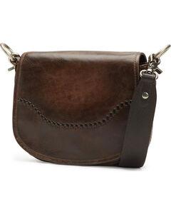 Frye Women's Melissa Leather Saddle Bag , Slate, hi-res