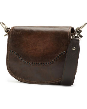 Frye Women's Melissa Leather Saddle Bag , Slate, hi-res