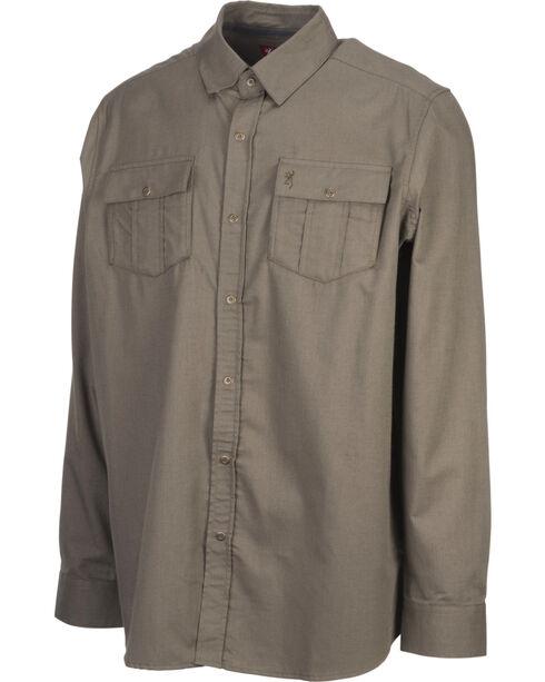 Browning Men's Olive Charleston Long Sleeve Shirt , Olive, hi-res