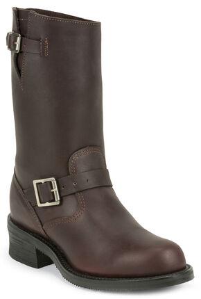 Chippewa Men's 1949 Original Burgundy Engineer Boots - Round Toe, Burgundy, hi-res