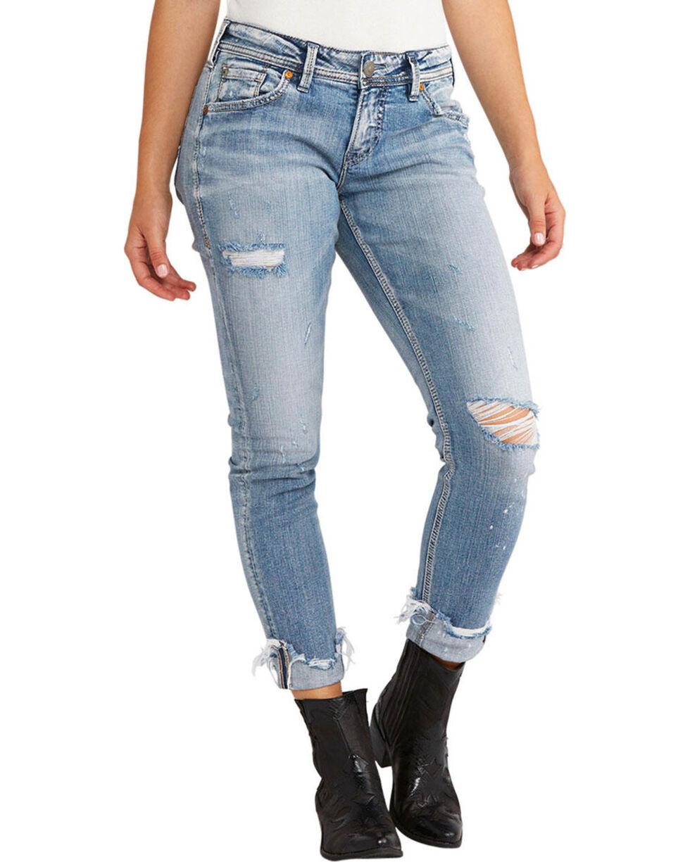 Silver Jeans Women's Kenni Skinny Boyfriend Jeans, Indigo, hi-res