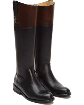 Frye Women's Redwood Jayden Button Tall Boots - Round Toe , Black, hi-res