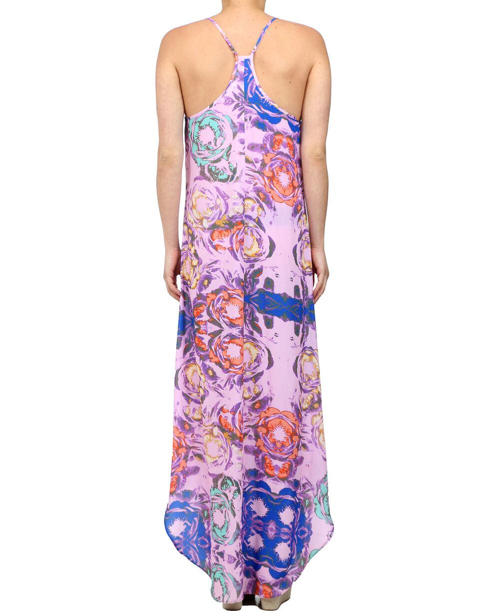 Glam Women's Sleeveless Floral Maxi Dress , Multi, hi-res