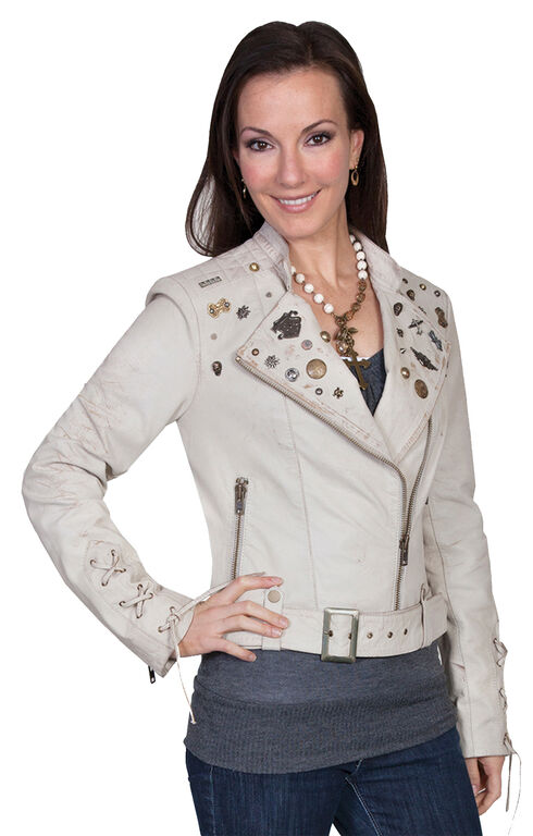 Scully Embellished Lamb Motorcycle Jacket, Sand, hi-res