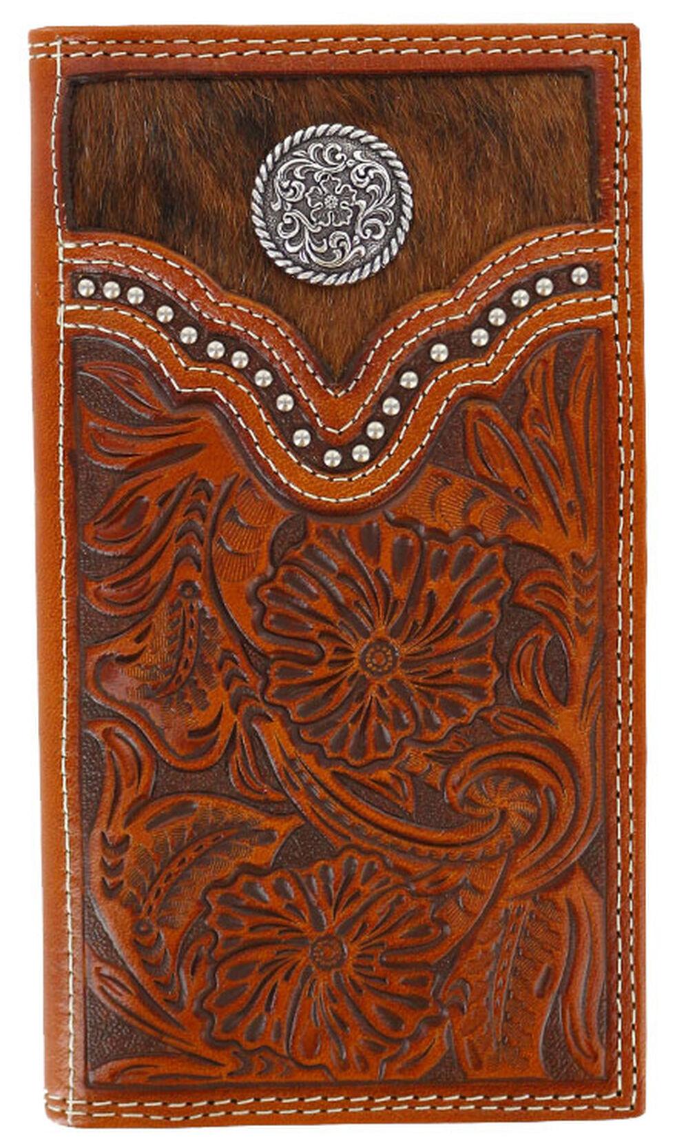 Cody James Men's Hair-on-Hide Rodeo Wallet, Brown, hi-res