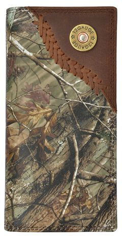 3D Badger Camo Leather Outdoor Rodeo Wallet, Camouflage, hi-res