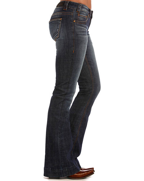 Rock & Roll Cowgirl Women's Low-Rise Trouser Jeans - Boot Cut, Blue, hi-res