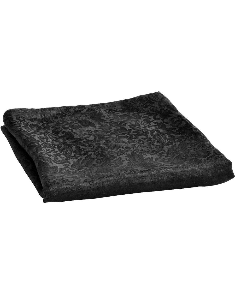 Black Jacquard Silk Wild Rag, Black, hi-res
