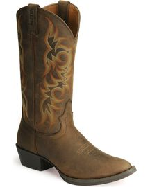 Justin Stampede Western Apache Cowboy Boot Med Toe