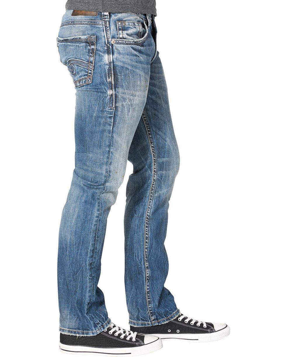 Silver Men's Allan Classic Fit Straight Leg Jeans, Indigo, hi-res