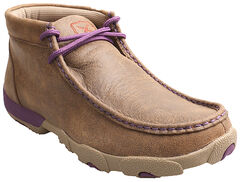 Twisted X Bomber Women's Leather Driving Mocs, , hi-res