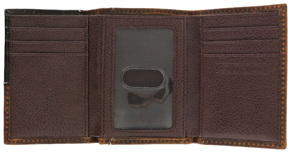 Cody James Men's Tri-Fold Hair-On Hide Wallet, Brown, hi-res