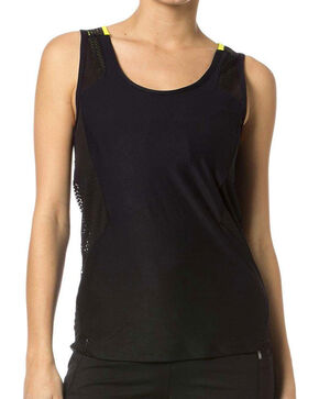Miss Me Women's Active Tank, Black, hi-res