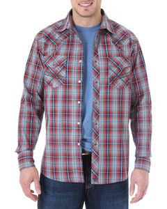 Wrangler 20X Men's Plaid Long Sleeve Shirt, Charcoal, hi-res