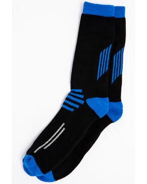 Cody James Men's Performance Crew Socks, Brown, hi-res
