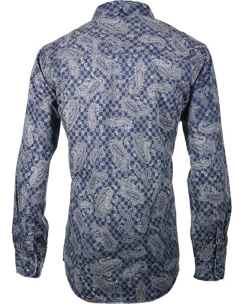 Rock Roll n Soul Men's It's No Game Long Sleeve Shirt, Indigo, hi-res