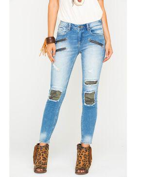 Miss Me Women's Indigo Mission Complete Ankle Jeans - Skinny , Indigo, hi-res