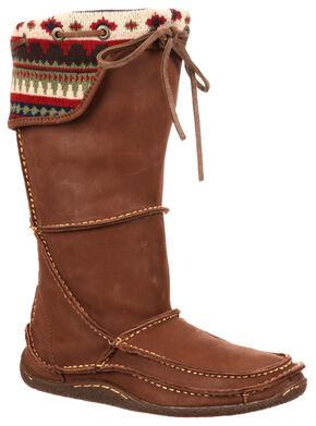 Durango Women's Santa Fe Tall Woven Moccasin Boots, Brown, hi-res