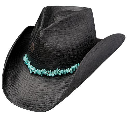 Charlie 1 Horse Tulum Black Straw Western Hat, Black, hi-res