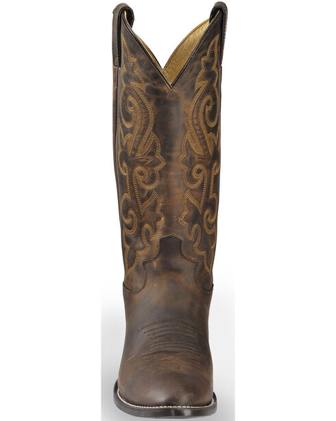 Justin Bay Apache Leather Cowboy Boots - Medium Toe, Brown, hi-res