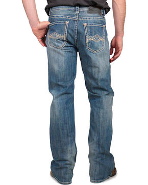 Rock & Roll Cowboy Men's Performance Fit Jeans - Straight Leg, Medium Blue, hi-res