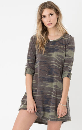Z Supply Women's Camo Symphony Dress , Camouflage, hi-res