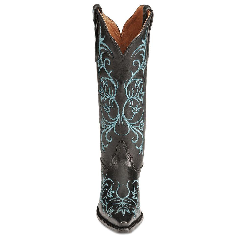 Tony Lama Signature Series Pitiado Cowgirl Boots - Snip Toe, Black, hi-res