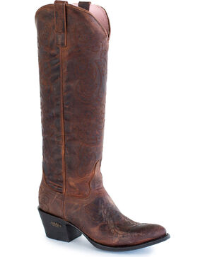 Miss Macie Women's Brown Steppin' Style Cowgirl Boots - Medium Toe , Brown, hi-res