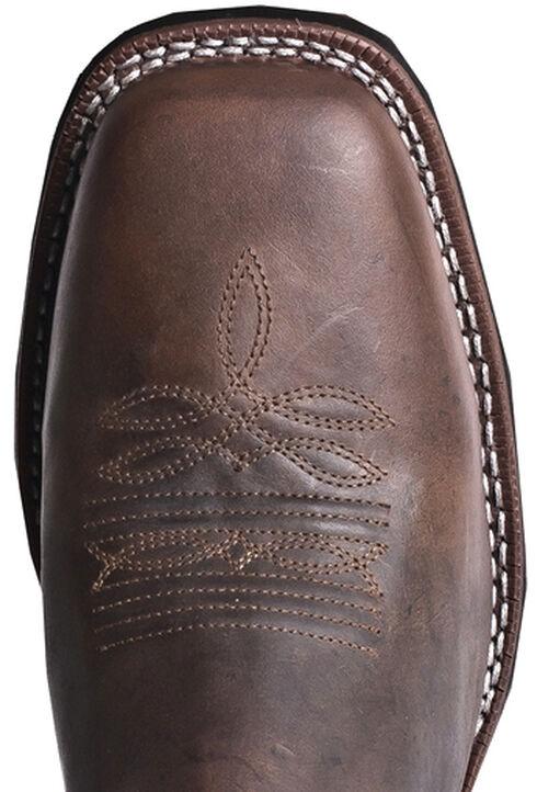 Laredo Razor Cowboy Boots - Square Toe, Burgundy, hi-res