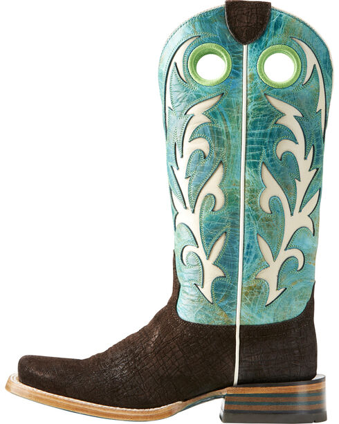 Ariat Women's Chute Out Chocolate Hippo Print Cowgirl Boots - Square Toe, , hi-res