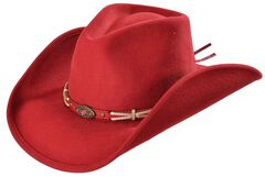 Bullhide Emotionally Charged Wool Cowgirl Hat, Red, hi-res