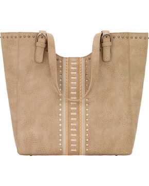 Bandana by American West Women's El Dorado Large Scoop Top Tote, Beige/khaki, hi-res