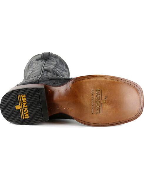 Dan Post Men's Black Ostrich Exotic Boots - Square Toe , Black, hi-res