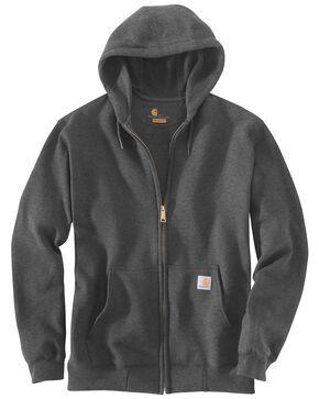 Carhartt Hooded Zip Sweatshirt - Big & Tall, Medium Grey, hi-res